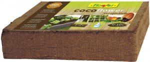 la fibra de coco es usada en huertos urbanos por ser 100% orgánica y natural, ahorrando agua